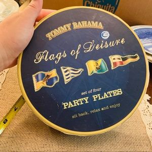Tommy Bahama set of four party plates flags